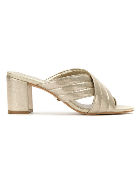 Olympiah metallic women mules shoes