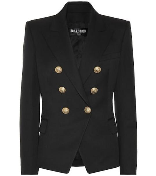 Balmain Embellished wool blazer in black