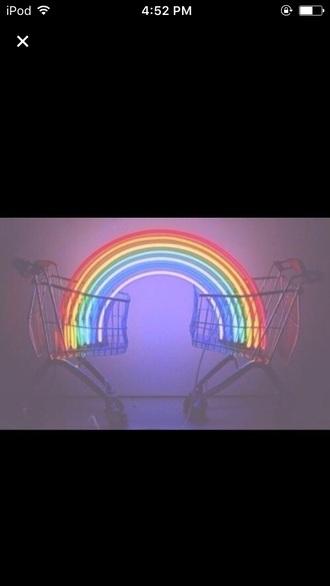 home accessory tumblr grunge black rainbow