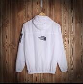 jacket,north face,windbreaker,supreme,white