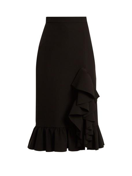MSGM skirt ruffle black