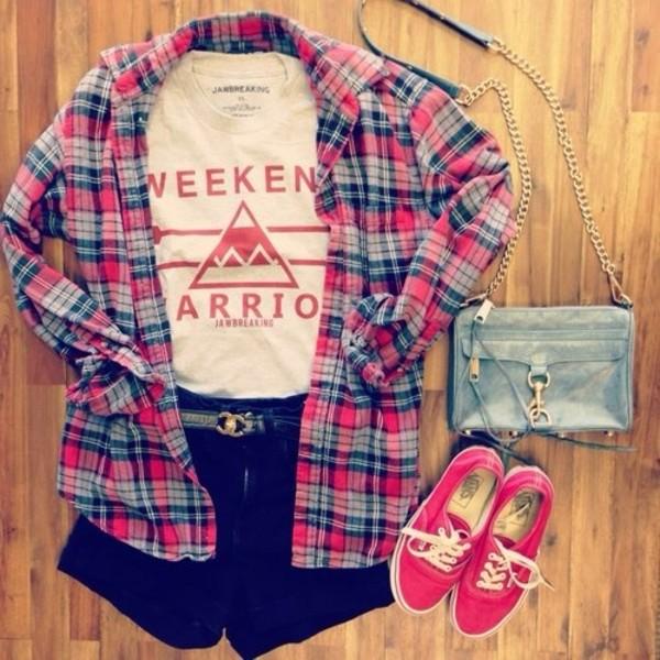 jacket red plaid