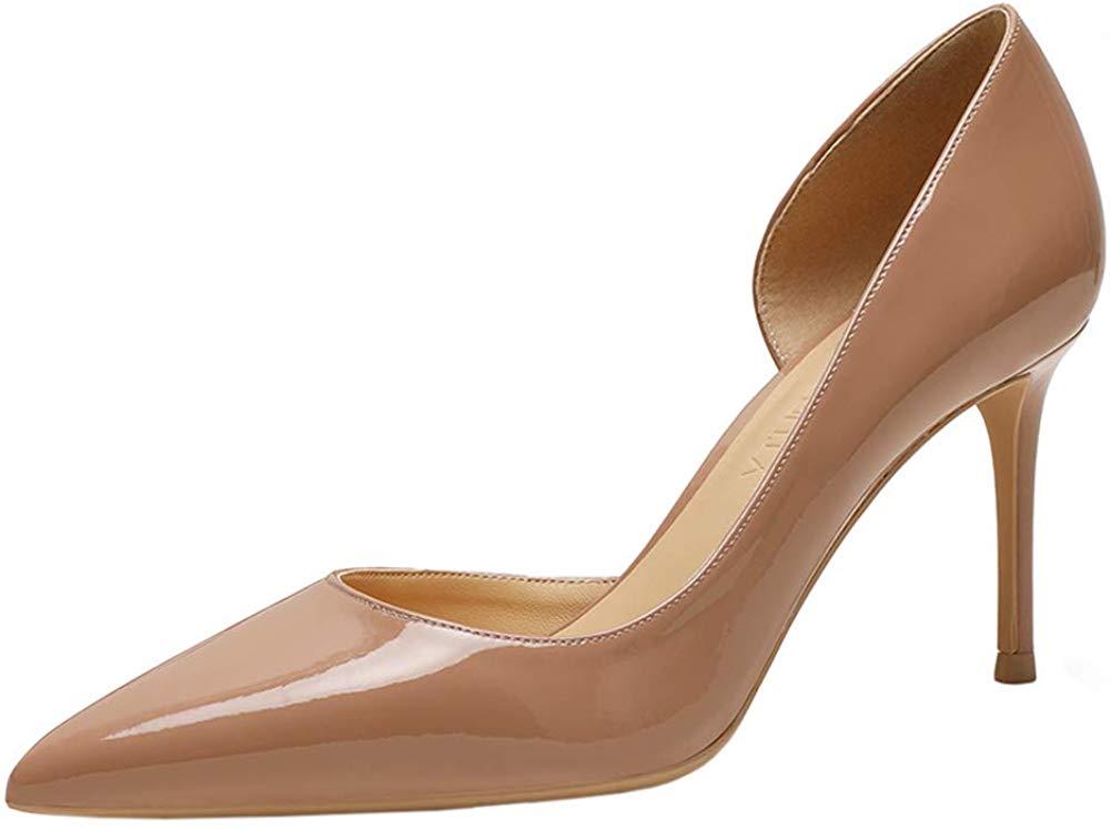 Amazon.com   June in Love Women's Middle Heels Shoes Slip On D'Orsay Pump Heels   Pumps
