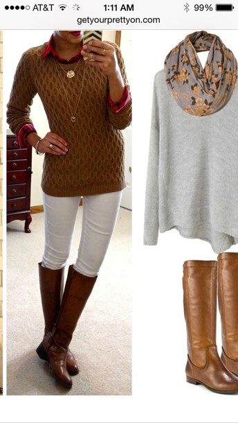sweater necklace boots