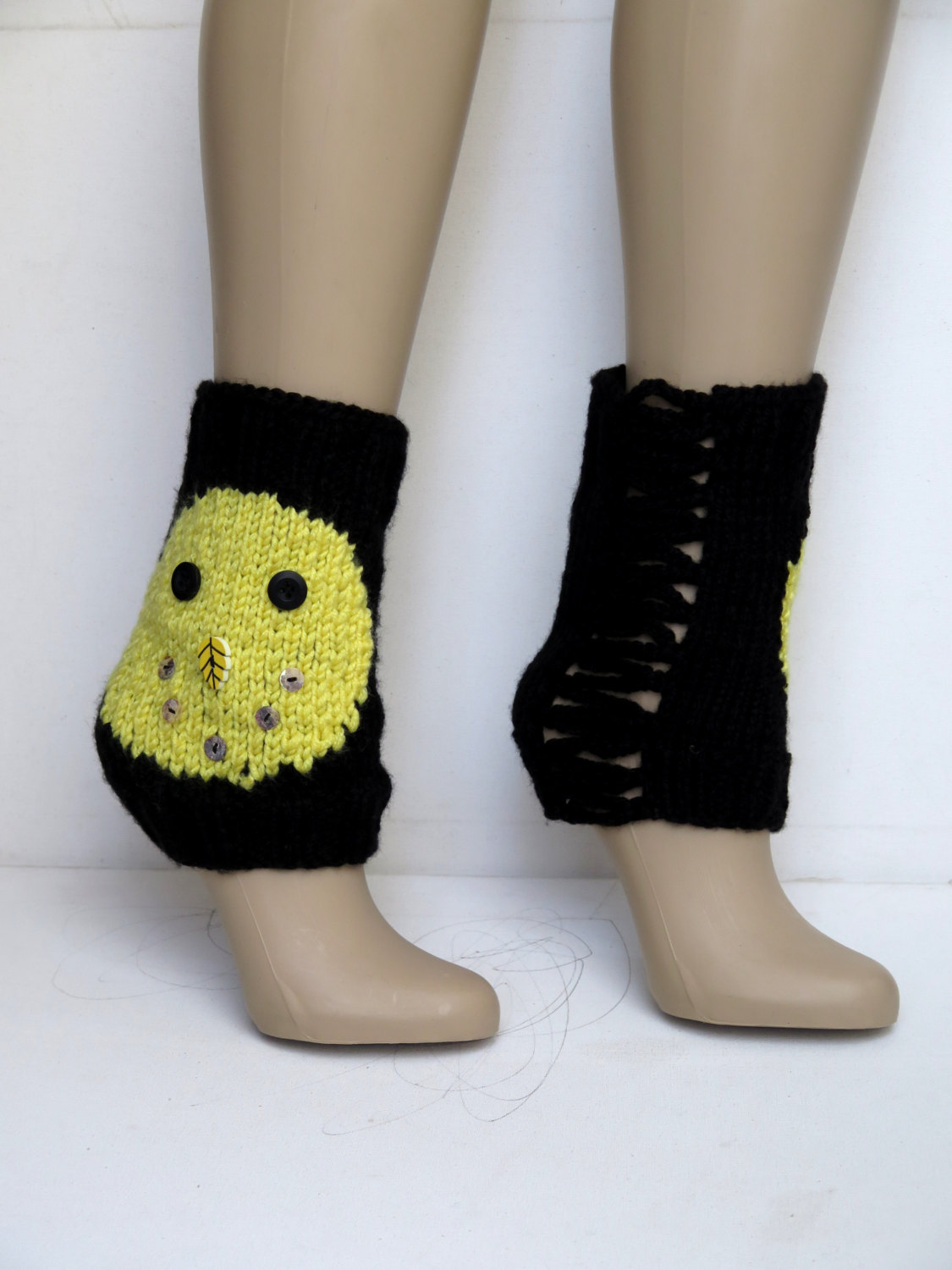 Smiley face boot cuffs