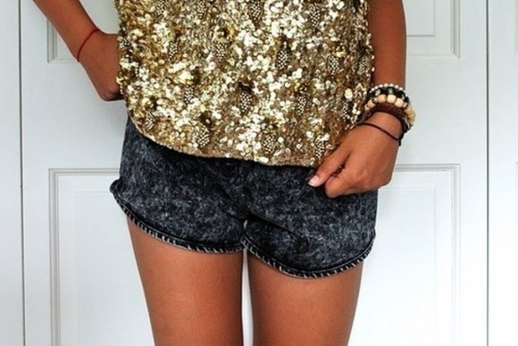 black denim shorts shorts