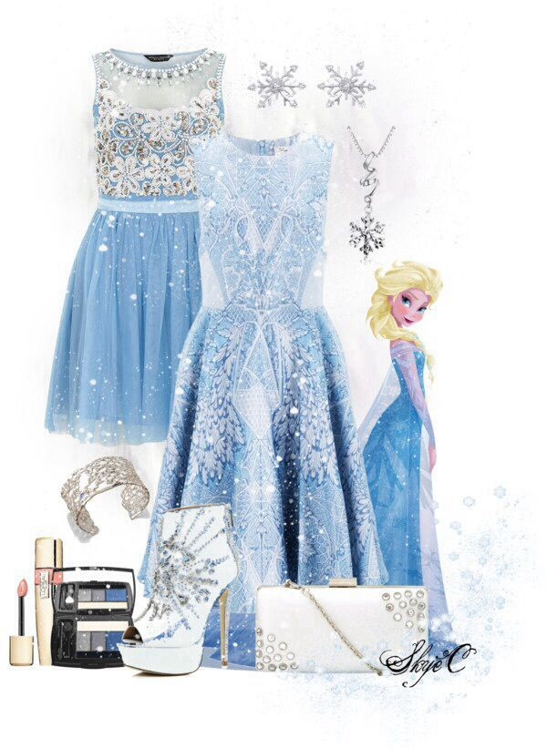 Dress Elsa Cute Disney Disney Frozen Blue Dress