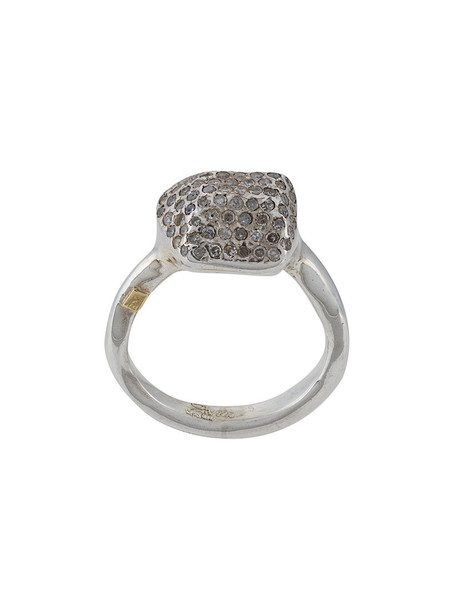 Rosa Maria women embellished ring silver grey jewels