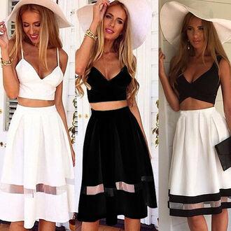 dress cocktail dress 2 piece skirt set 2 piece prom dress