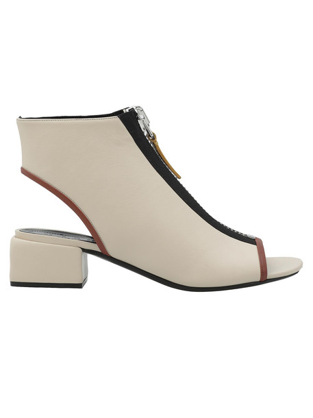 Marni Leather Ankle Boot in white