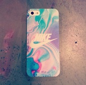 nike,phone cover,iphone 5 case,iphone cover,beautiful cover,color/pattern,jewels,iphone case,pretty,tie dye,water colour,multicolor,nike case acid colour,marble,colorful,pastel phone case,cove,water marble,iphone 5s,watercolor,bright,iphone