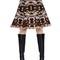 Wool & cotton jacquard skirt