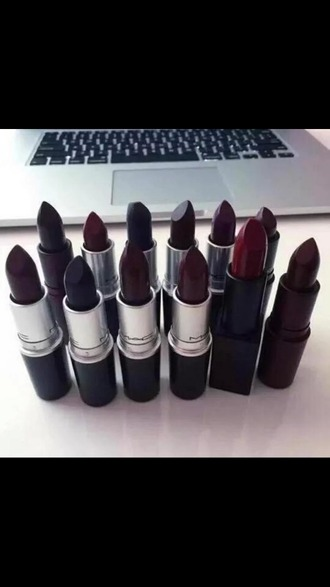 make-up make up forever mac cosmetics mac lipstick dark lipstick lipstick red lipstick red black burgundy lipstick