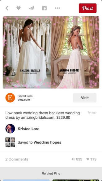 dress wedding dress low back