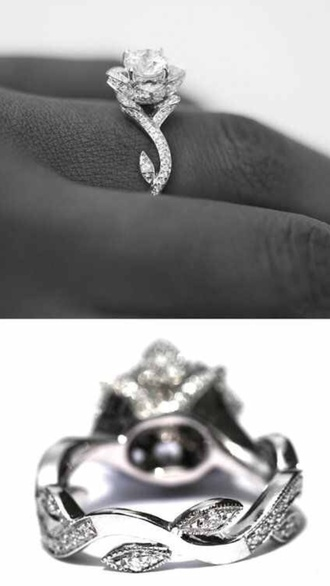 jewels ring engagement ring rose sparkly