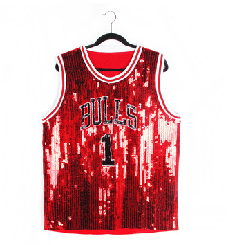 tank top sequins bulls 1 chicago bulls