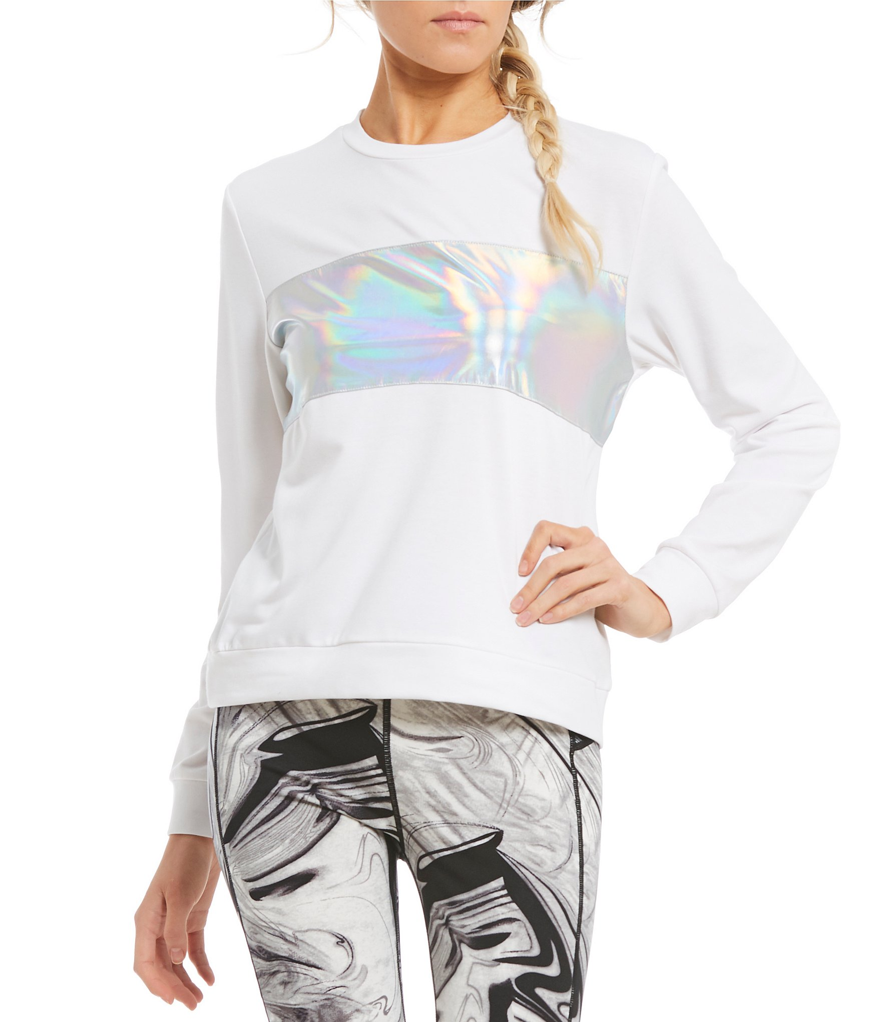 GB Active Holographic Sweatshirt | Dillards