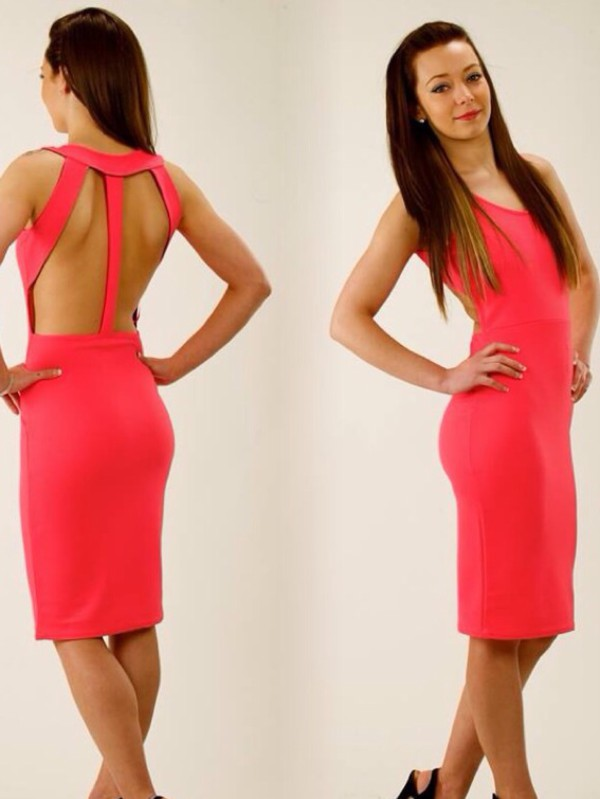 barbie dress pink dress cute dress cut out bodycon dress bodycon dress dress fashion perfecto bridesmaid