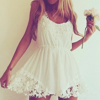 dress white dress flowers dress