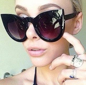 sunglasses black cat eye