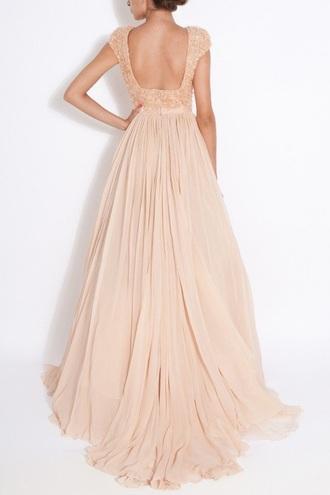 dress blush blush dress rose rose dress long dress elegant pretty gorgeous