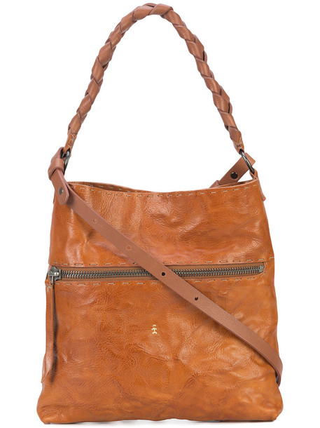 Henry Beguelin satchel women rustic leather brown bag