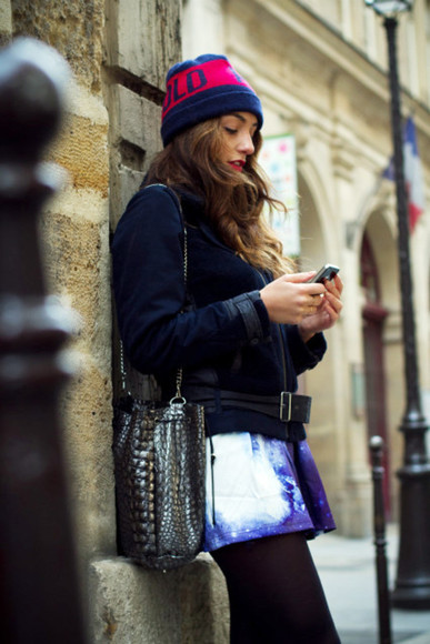 nebula space galaxy skirt paris streetstyle
