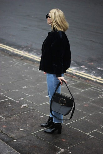 maisie ivy blogger jeans shoes bag sunglasses jewels black bag shoulder bag ankle boots