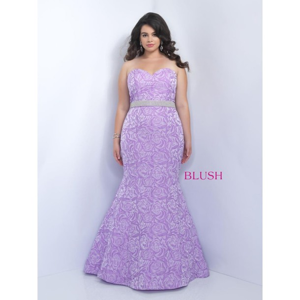 dress lavender curvy blush