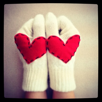 hat heart gloves heart gloves lovers wool women gloves