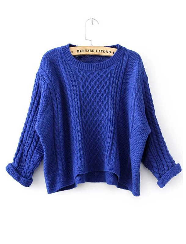 Om cable crop sweater