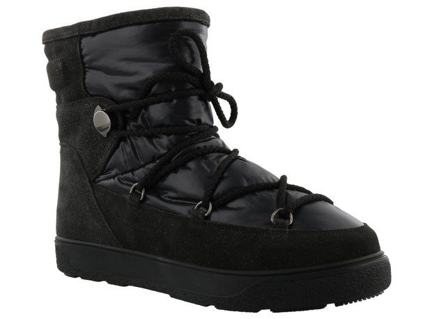 boot new black shoes