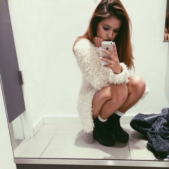 dress fuzzy sweater fur crop fuzzy sweater soft grunge pale shoes