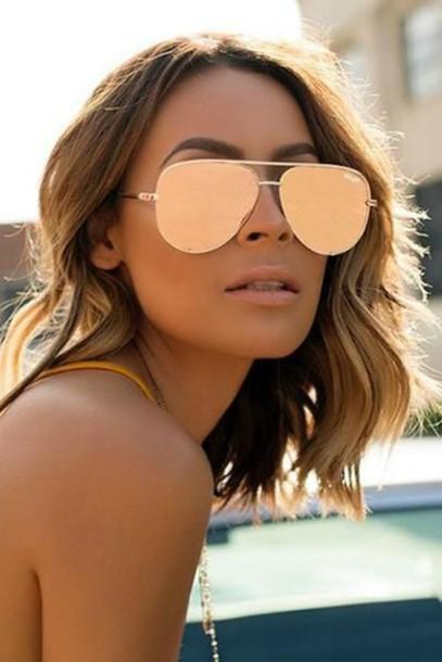 7ff6d5c2263 sunglasses, desi perkins, quay, mirrored sunglasses, hairstyles ...