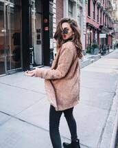 coat,tumblr,camel,camel coat,teddy bear coat,sunglasses,aviator sunglasses,jeans,denim,black jeans,skinny jeans,boots,black boots,fuzzy coat,camel fluffy coat,fluffy