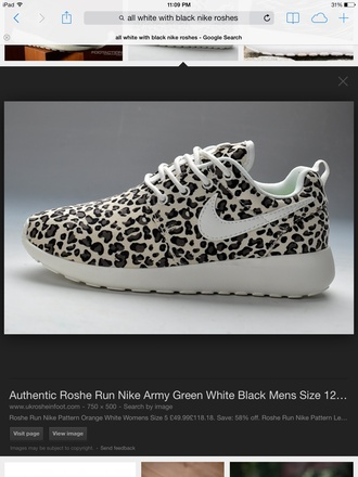 shoes roshes cheetah