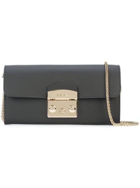 Furla women bag clutch leather black