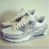 leopard nikes,nike air max 90,nike,nike sneakers,shoes,leopard print,air max