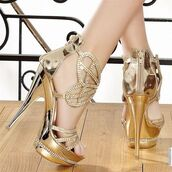 shoes,gold,high heels,wedding,bridesmaid