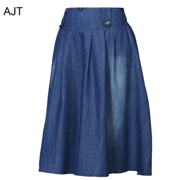 skirt, big hem jean dress, plus size skirt, long jean dress, plus ...