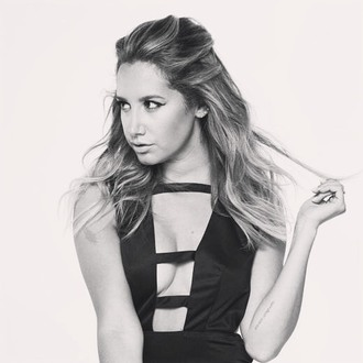 top plunge v neck ashley tisdale editorial