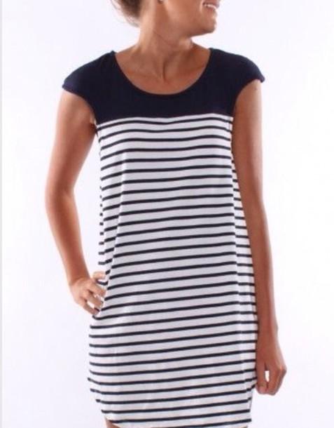 dress nautical stripes casual