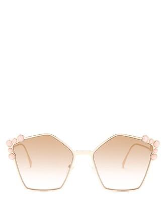 embellished sunglasses gold