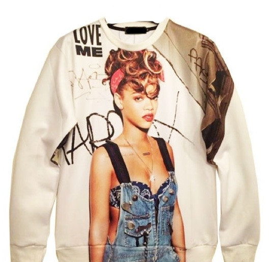 "Riri ""can't remember to forget you"" print sexy sweater – glamzelle"