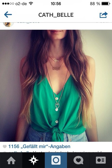 button up blouse green plshelp