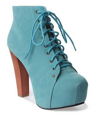 Jeffrey Campbell Lita Shoe Blue Suede-in Boots from Shoes on Aliexpress.com
