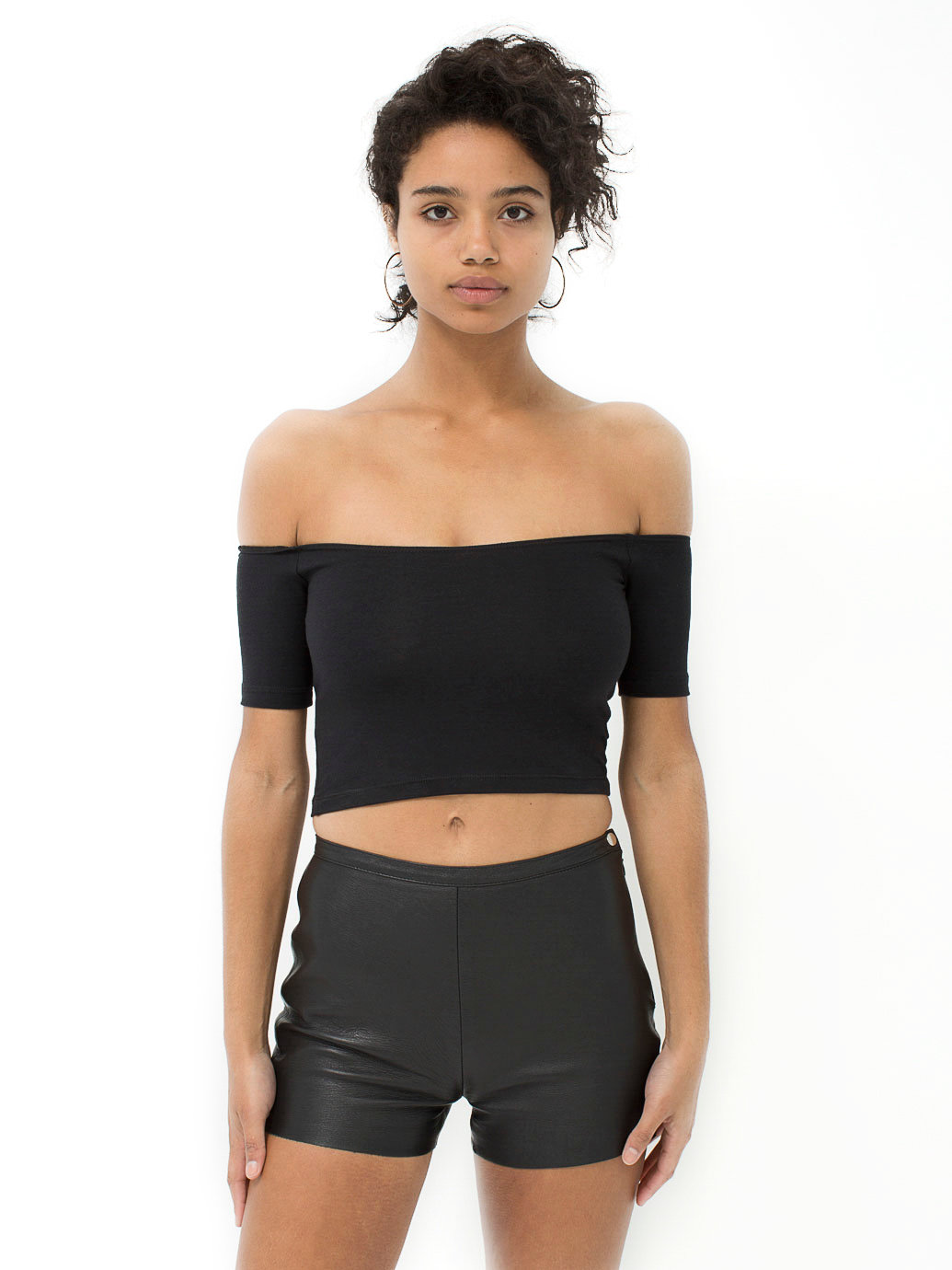 Find helpful customer reviews and review ratings for American Apparel Women's Cotton Spandex Off-Shoulder Crop Top at teraisompcz8d.ga Read honest and unbiased product reviews from our users.