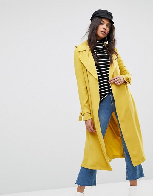 River Island Belted Trench Coat at asos.com