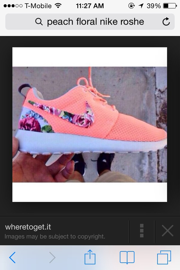 shoes nike peach roche roshes