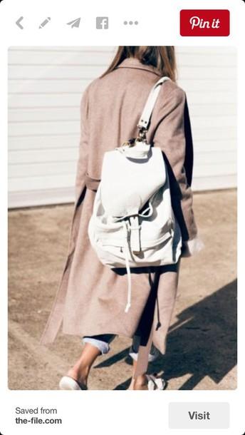 281441f257 bag white backpack purse minimalist minimal backpack leather canvas
